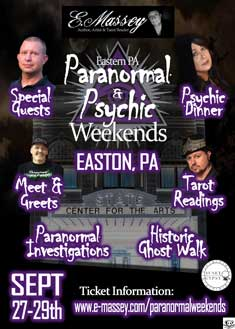 EASTERN PA PARANORMAL & PSYCHIC WEEKEND